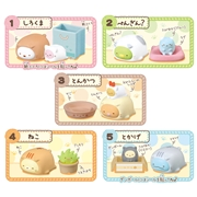TOMMY TAKARA  Sumikko Gurashi Poka Poka  Neko Biyori Rubber mini figure re-ment blind box