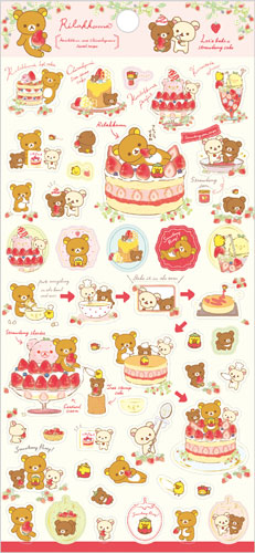 "Rilakkuma ""Strawberry Party"" Collection Sticker"