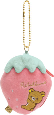 "Rilakkuma ""Strawberry Party"" Collection  Coins bag with ball chain"