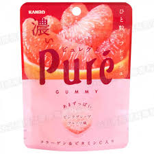 PURE  Dark Pink Grapefruit   Gummy