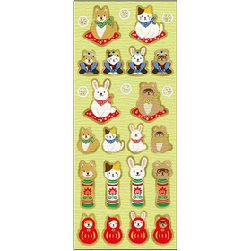 Japanese paper seal / sticker - animals