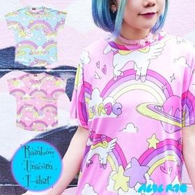 ACDC Rainbow Unicorn  T-shirt