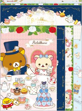 Rilakkuma Alice in Wonderland Series Letter Set