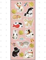 Japanese paper seal / sticker - neko
