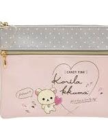 Rilakkuma Style · Korilakkuma × Pink Series : flat  pouch