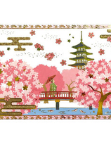 Pop-up with  Gold-pressed cherryblossom  tree and Maiko spring card