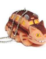 Totoro Catbus Flocking keychain