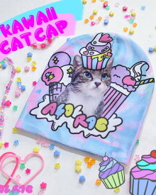ACDC Kawaii  Cat hat