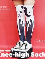 ACDC Harajuku Style  knee high tights socks - Panda