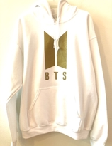 BTS Hoodie - White with gold logo