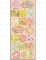 Japanese paper seal / sticker -sakura