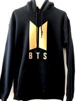 BTS Hoodie - Black with gold logo