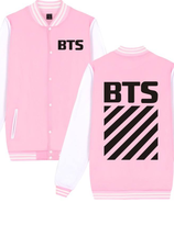 BTS Baseball Jacket - Pink