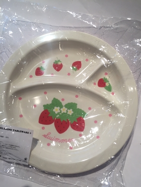 Swimmer melamine plate - strawberry