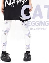 ACDC Harajuku Style Neko  leggings