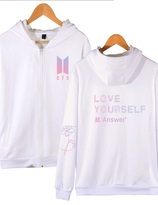 BTS  LOVE  YOURSELF  - ANSWER  ZIP-UP HOODY
