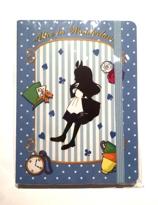 Swimmer Alice in Wonderland notebook