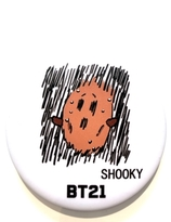 BT21 Badge - SHOOKY