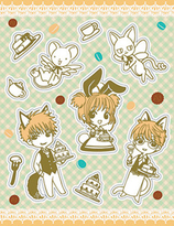 Cardcaptor Sakura A5 size  Decoration Sticker Set