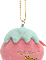 "Rilakkuma""Strawberry Party"" Collection   Coins bag with ball chain"