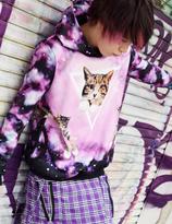 ACDC Harajuku Style Galaxy Cat Hoodie