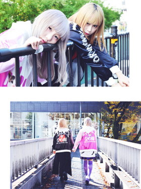 """Name Neko"" Collaboration x ACDC Sukajan Jacket !!!Pink / Black"