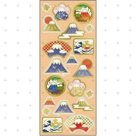 Japanese paper seal / sticker -Fuji Mountain