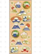 Japanese paper seal / sticker -Fuji Mountain