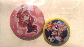 Hatsune Miku totae bag with 2 badges