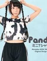 ACDC Harajuku Style Panda Mini T-shirt