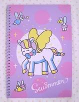Swimmer Unicorn A5 size Notebook