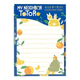 My Neighbor Totoro  Summer Mandarin orange Serie mini Letter Set