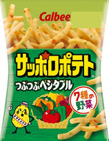 Calbee Sapporo Potato Plump Vegetable chips