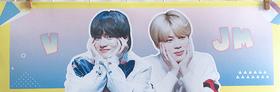 BTS   Banderoll - V & Jimin