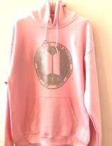 BTS Hoodie - Rosa med silver logo