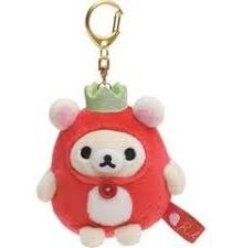 "Koriilakkuma ""Strawberry Party"" plush  nyckelring"