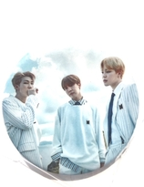 BTS - J-Hope  JIMIN & Rap Monster Badge