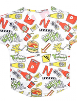 Harajuku ACDC  Yummy Hamburger T-shirt