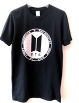 BTS T-shirt - Black with silver logo