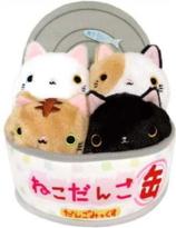 Neko Dango Cats in can bed set
