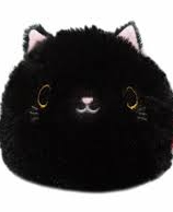 Neko Dango  Flurry Collection plush beanie - MOFU KURO TJN