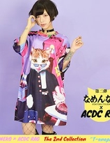 """Name Neko"" Collaboration x ACDC colorful  Tshirt"
