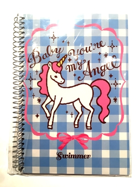 """Swimmer Unicorn """" You 're my Angel baby """"   notebook"""
