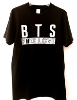 BTS FAKE   LOVE  T-shirt - black with silver logo