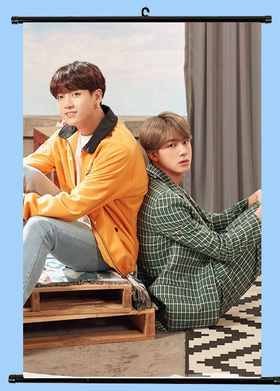 BTS  JUNGKOOK  & JIN    Wallroll Poster   - small