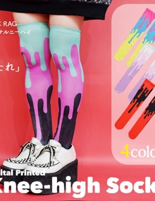 ACDC Harajuku Style  knee high tights socks