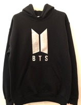 BTS Hoody - black with silver logo